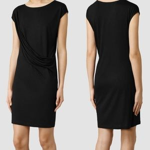 All Saints Black Sabie Short Casual Dress, size 2